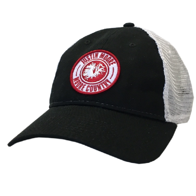 Justin Moore Black and White Patch Ballcap