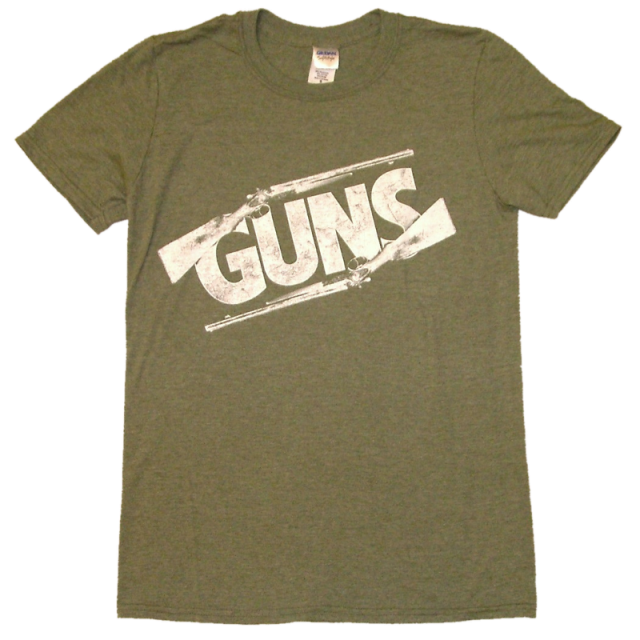 Justin Moore Heather Military Green Guns Tee