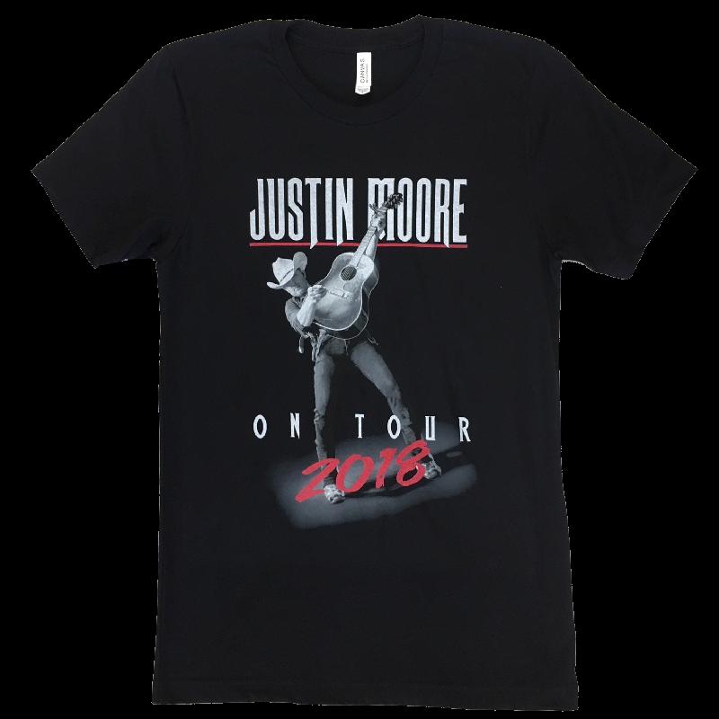 Justin Moore 2018 Black Tour Tee