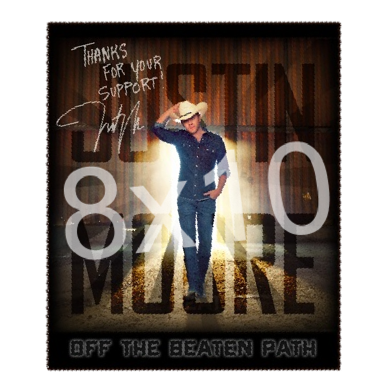 Justin Moore 8x10- Off the Beaten Path