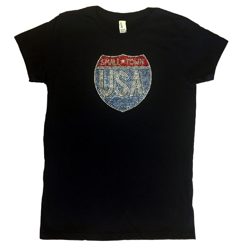 Justin Moore Ladies Black Bling Tee