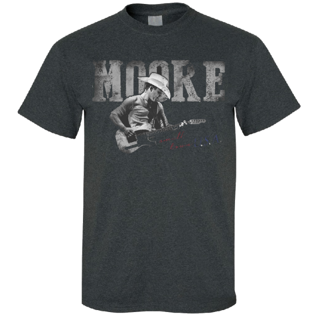 Justin Moore Dark Heather Grey Tee