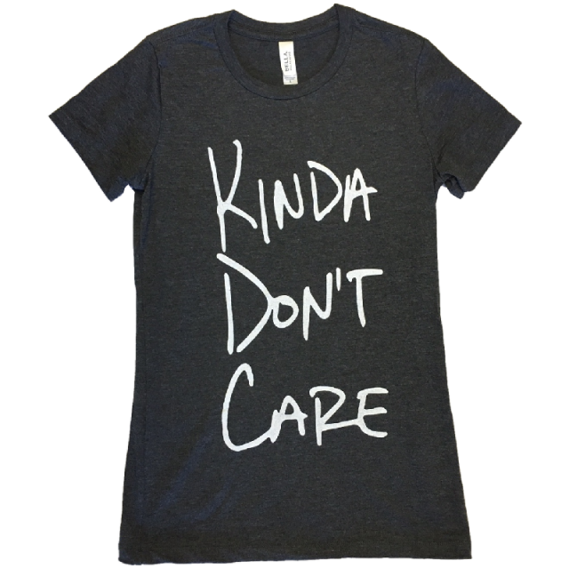 Justin Moore Ladies Dark Grey Heather Tee- Kinda Don't Care